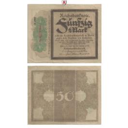 1. Weltkrieg 1914-1918, 50 Mark 20.10.1918, III, Rb. 56f