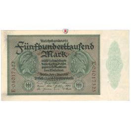 Inflation 1919-1924, 500000 Mark 01.05.1923, I-, Rb. 87b