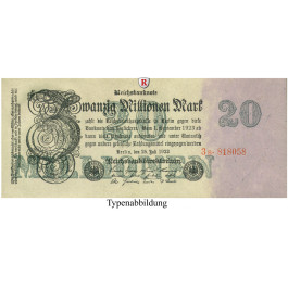 Inflation 1919-1924, 20 Mio Mark 25.07.1923, III, Rb. 96c