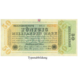 Inflation 1919-1924, 50 Md Mark 10.10.1923, III, Rb. 117e