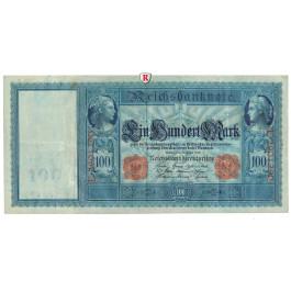 Reichsbanknoten und Reichskassenscheine, 100 Mark 21.04.1910, II-III, Rb. 43b