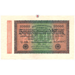 Inflation 1919-1924, 20000 Mark 20.02.1923, II, Rb. 84c