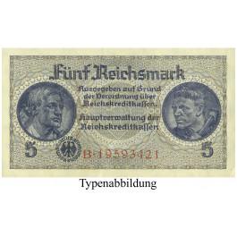Besatzungsausgaben des 2. Weltkrieges 1939-1945, Reichskreditkasse, 5 Reichsmark o.D., I, Rb. 553a