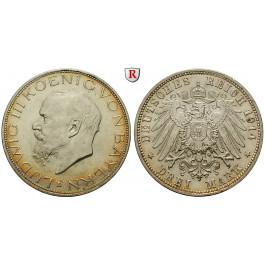 Deutsches Kaiserreich, Bayern, Ludwig III., 3 Mark 1914, D, vz, J. 52