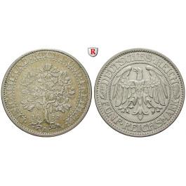 Weimarer Republik, 5 Reichsmark 1932, Eichbaum, A, ss-vz, J. 331