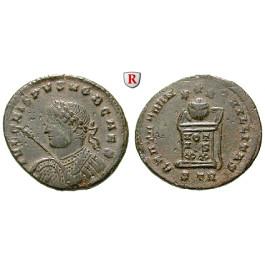 Römische Kaiserzeit, Crispus, Caesar, Follis 321, ss-vz