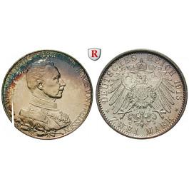 Deutsches Kaiserreich, Preussen, Wilhelm II., 2 Mark 1913, Regierungsjubiläum, A, vz/vz-st, J. 111
