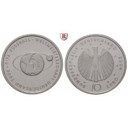 Bundesrepublik Deutschland, 10 Euro 2004, Fußball WM 2006, 2. Ausgabe, PP, J. 504