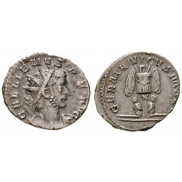 Römische Kaiserzeit, Gallienus, Antoninian 257-258, ss