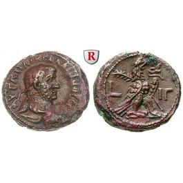 Römische Provinzialprägungen, Ägypten, Alexandria, Gallienus, Tetradrachme 265-266, ss/ss+
