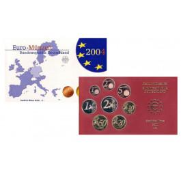 Bundesrepublik Deutschland, Euro-Kursmünzensatz 2004, ADFGJ komplett, PP
