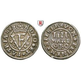 Braunschweig, Braunschweig-Wolfenbüttel, Friedrich Ulrich, 4 Mariengroschen 1625, ss+