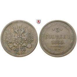 Russland, Alexander II., 5 Kopeken 1865, ss