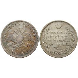 Russland, Nikolaus I., Rubel 1828, ss