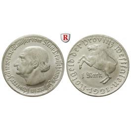 Nebengebiete, Westfalen, 1 Mark 1921, vom Stein, st, J. N10