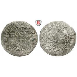 Römisch Deutsches Reich, Ferdinand I., 1/2 Batzen 1522, f.ss/ss