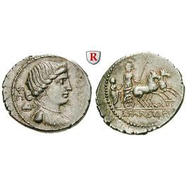 Römische Republik, L. Farsuleius Mensor, Denar 75 v.Chr., st