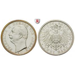 Deutsches Kaiserreich, Anhalt, Friedrich II., 2 Mark 1904, Zum Regierungsantritt, A, PP, J. 22