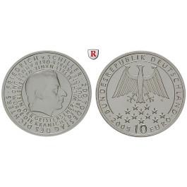 Bundesrepublik Deutschland, 10 Euro 2005, Friedrich von Schiller, G, PP, J. 513