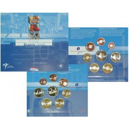 Niederlande, Königreich, Beatrix, Euro-Kursmünzensatz 2005, st