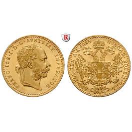 Österreich, Kaiserreich, Franz Joseph I., Dukat 1915, 3,44 g fein, st
