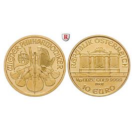 Österreich, 2. Republik, 10 Euro seit 2002, 3,11 g fein, st
