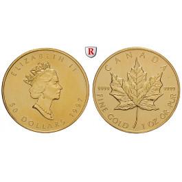 Kanada, Elizabeth II., 50 Dollars seit 1979, 31,1 g fein, st