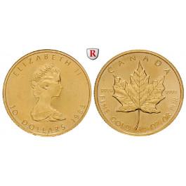 Kanada, Elizabeth II., 10 Dollars seit 1982, 7,78 g fein, st