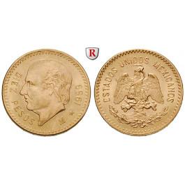 Mexiko, Vereinigte Staaten, 10 Pesos 1959, 7,5 g fein, bfr.