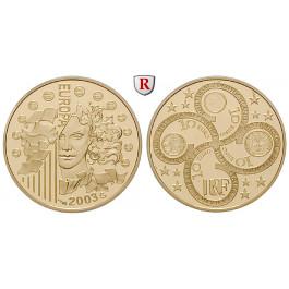 Frankreich, V. Republik, 10 Euro 2003, 7,77 g fein, PP