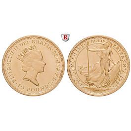 Grossbritannien, Elizabeth II., 10 Pounds seit 1987, 3,11 g fein, st