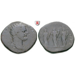 Römische Kaiserzeit, Septimius Severus, Sesterz 194, s+