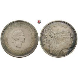 Luxemburg, Charlotte, 250 Francs 1963, 22,5 g fein, vz-st