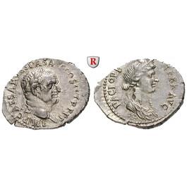 Römische Kaiserzeit, Vespasianus, Denar 70, f.st