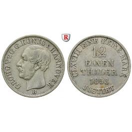Braunschweig, Königreich Hannover, Georg V., 1/12 Taler 1853, ss+