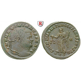 Römische Kaiserzeit, Maximianus Herculius, Follis 301, ss+