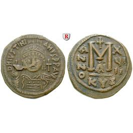Byzanz, Justinian I., Follis 544, ss+