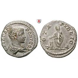 Römische Kaiserzeit, Geta, Caesar, Denar 205, ss+