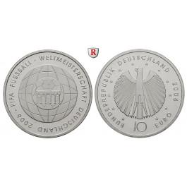 Bundesrepublik Deutschland, 10 Euro 2006, Fußball WM 2006, 4. Ausgabe, G, PP, J. 520