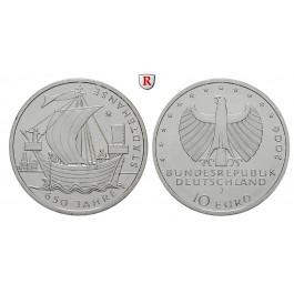 Bundesrepublik Deutschland, 10 Euro 2006, 650 Jahre Hanse, J, bfr., J. 523