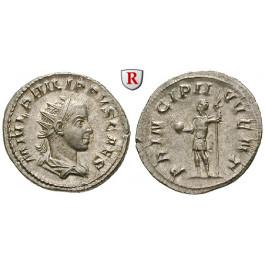 Römische Kaiserzeit, Philippus II., Caesar, Antoninian 244-247, vz
