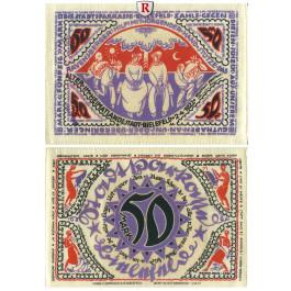 Notgeld der besonderen Art, Bielefeld, 50 Mark 2.4.1922, I bis II