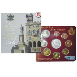 San Marino, Euro-Kursmünzensatz 2006, st