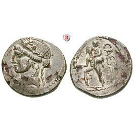 Römische Republik, Caius Iulius Caesar, Denar 47-46 v.Chr., vz