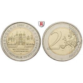 Bundesrepublik Deutschland, 2 Euro 2007, Schloss Schwerin, nach unserer Wahl, bfr., J. 526