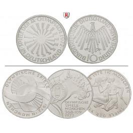 Bundesrepublik Deutschland, 10 DM 1972, 9,69 g fein, vz-st