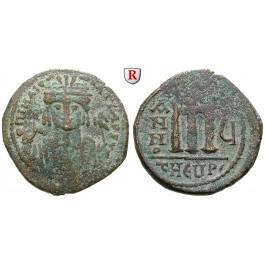Byzanz, Mauricius Tiberius, Follis Jahr 5, ss