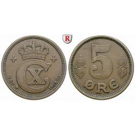Dänemark, Christian X., 5 Öre 1914, ss