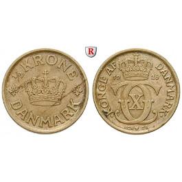 Dänemark, Frederik IX., 1/2 Krone 1926, ss+