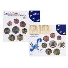 Bundesrepublik Deutschland, Euro-Kursmünzensatz 2006, mit 2 Euro Holstentor, Einzelsatz, st